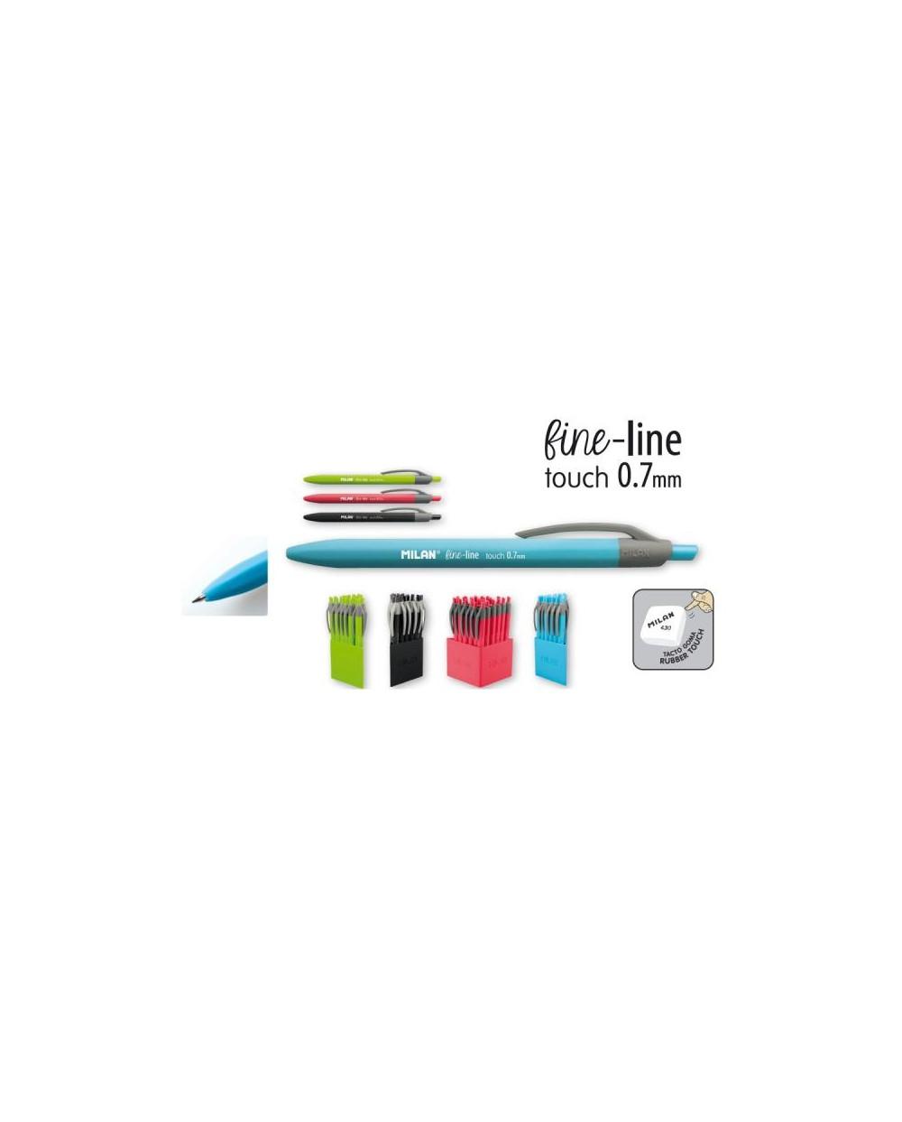 Химикалка автоматична MILAN, P1 fine-line 0.7, Rubber touch