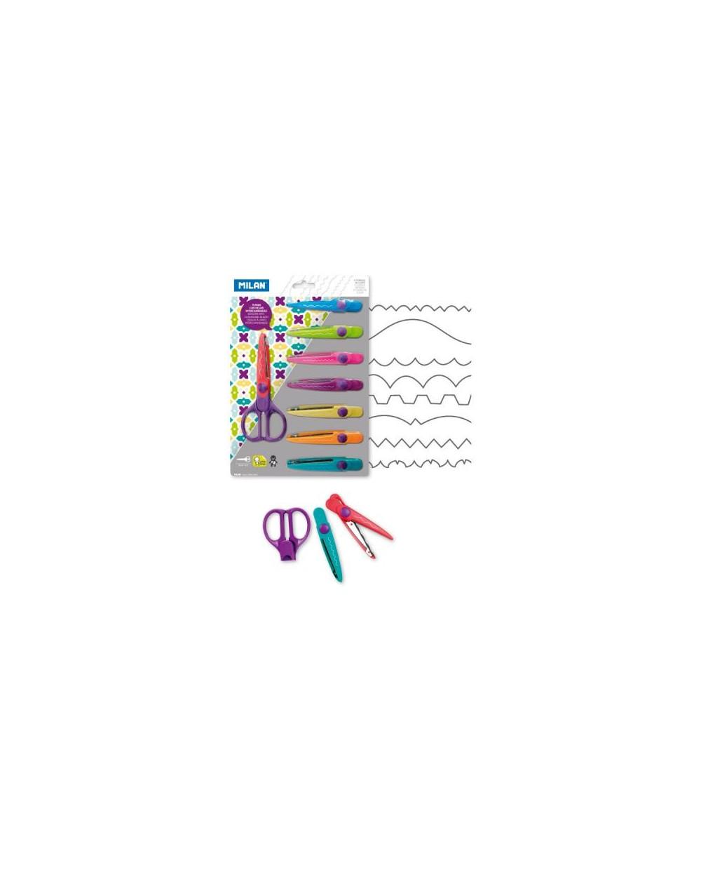 Ножица MILAN зиг-заг с 8 сменяеми остриета