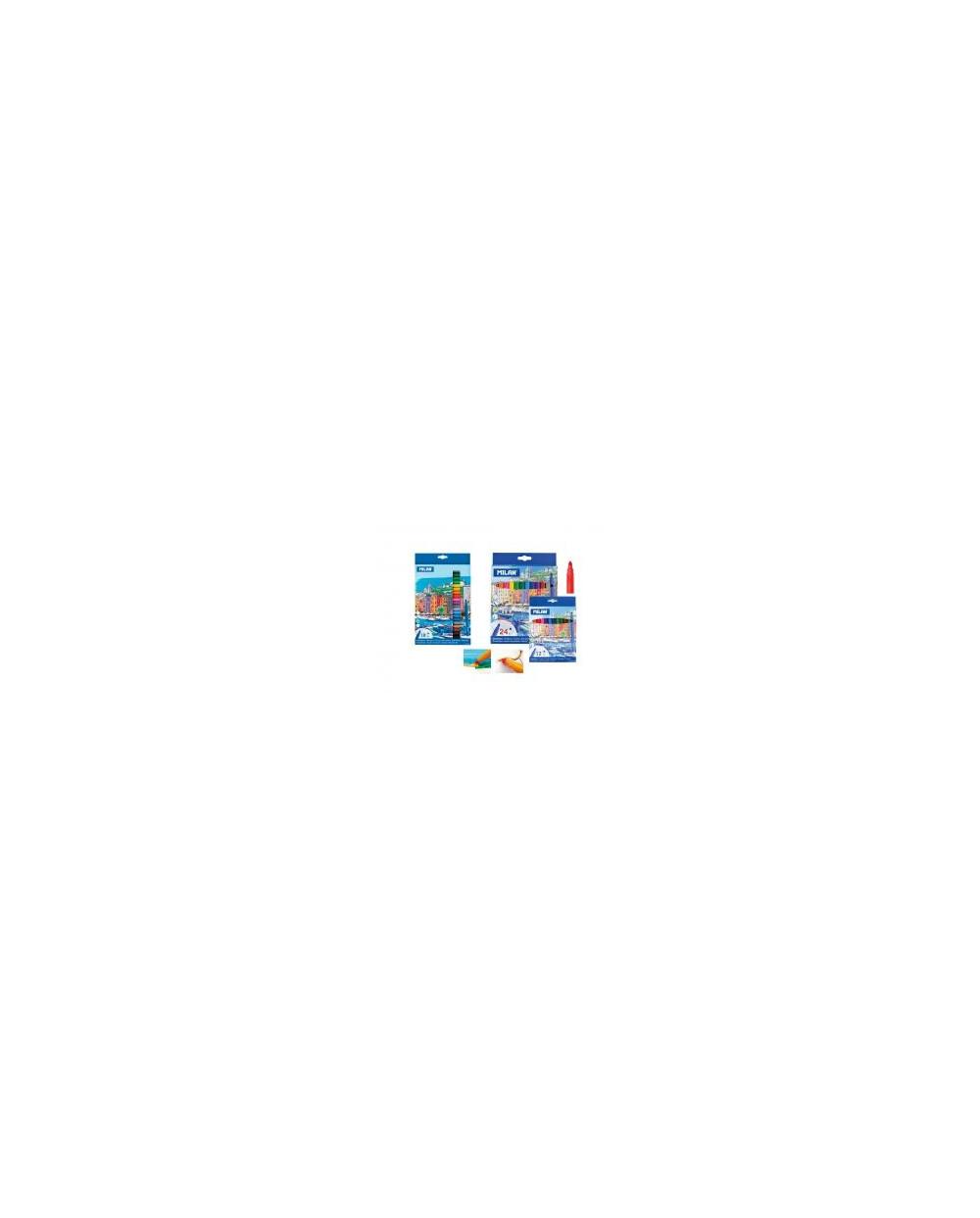 Флумастери MILAN 18 цвята, конични - серия 631, city