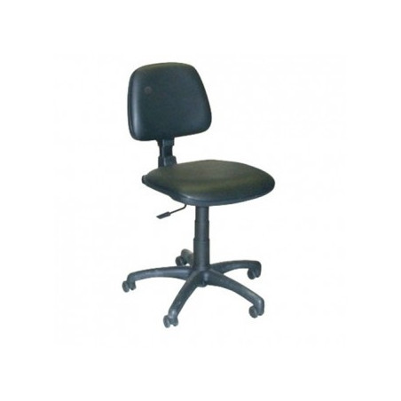 Офис стол PLUTON GTS - черен, еко кожа
