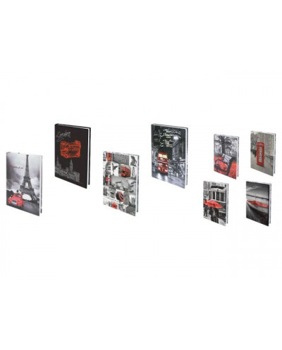 Тефтер SPREE, Black&Red PV Digital 14x20, 168 л, 70 г/м2