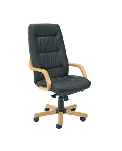 Офис стол SENATOR черен, естествена кожа