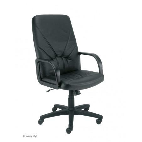 Офис стол MANAGER - Черен ест. кожа
