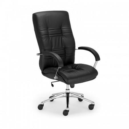 Офис стол Amadeus Steel Chrome, естествена кожа