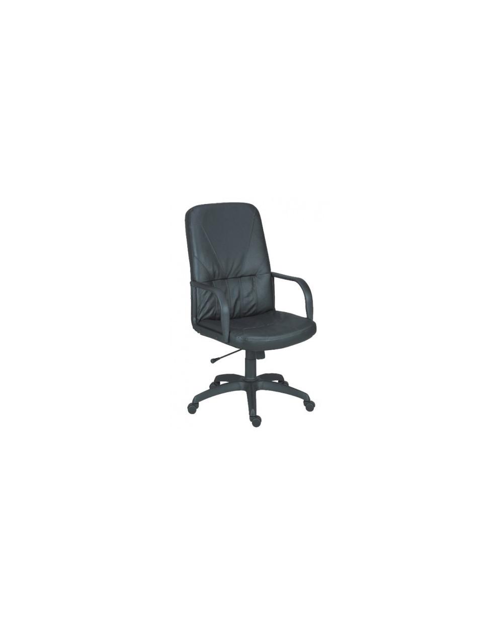 Офис стол Legend - Черен, естествена кожа