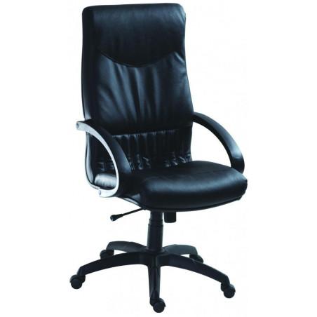 Офис стол 5700 - Черен, естествена кожа