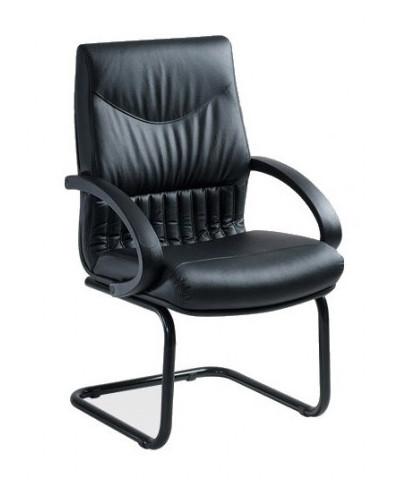 Посетителски стол 5750/s P-R, естествена кожа