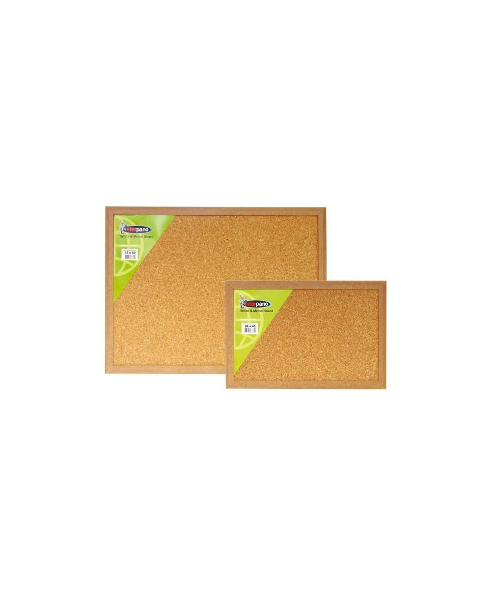 Коркова дъска InterPano с рамка MDF 90х120 см