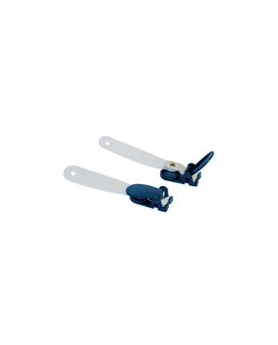 Щипка за бадж пластмасова, SPREE, т.синя
