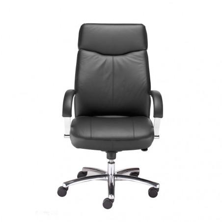 Офис стол Rapsody Steel Chrome, естествена кожа