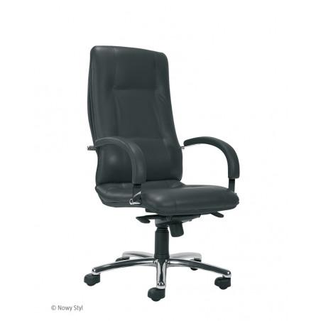 Офис стол Star Steel, естествена кожа