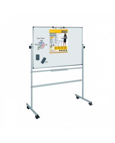Бяла магнитна дъска Bi-Office 90х120 см, двустранна, подвижна