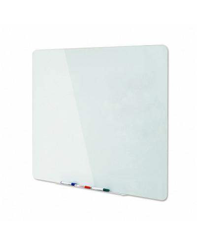 Стъклена бяла магнитна дъска Bi-office,90x120 см