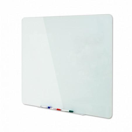 Стъклена бяла магнитна дъска Bi-Office,120x150 см