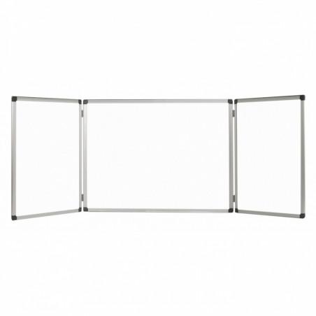 Бяла дъска Bi-Office Maya тройна, 360х120 см, сгъната 180х120 см