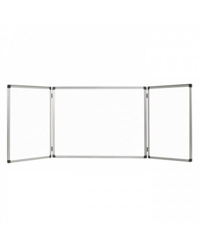 Бяла дъска магнитна Bi-Office тройна, 120х360 см, сгъната 120х180 см