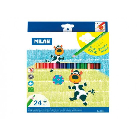 Моливи MILAN 24 цвята - серия 211